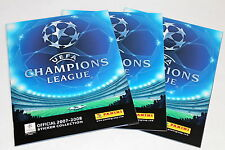Panini UEFA CHAMPIONS LEAGUE 2007/2008 07/08 - 3 x LEERALBUM EMPTY ALBUM MINT!