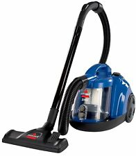 BISSELL Bagless Canister Vacuum Vacume Cleaner Carpet Floors Upholstery Blue New