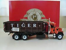 FIRST GEAR - TIGER WASTE DISPOSAL - MACK GRANITE ROLL-OFF REFUSE TRUCK - DIECAST