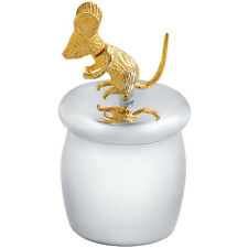 Fée des dents boîte avec plaqué or mobile souris argent 925 neuf à partir de ari d norman