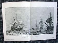 Walfischfang im 18. Jahrhunder tWalfang Segelschiffe DRUCK von 1903