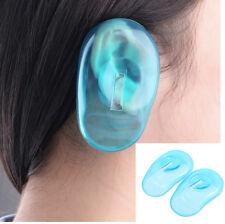 2 Pcs Hair Dye Shield Ear Cover Clear Silicone Protector Hair Colouring Salon