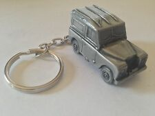 "Land Rover Series 3 86""WB 3D split-ring keyring FULL CAR ref114"