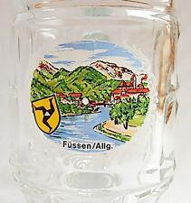 Dimple 0.25l Glass - Souvenir - Fussen Germany