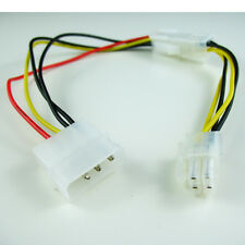 """12"""" Inch Molex to 4-pin ATX Male or Female Power Adapter Detachable Cable"""
