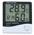 Thermometer Digital LCD Hygrometer Temperature Humidity Meter Alarm Clock Indoor