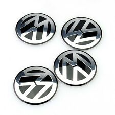 Sticker Emblem Cover Logo 55MM 4* Wheel Center Hub Cap for VW Jetta Golf Passat