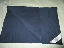 CONTINENTAL AIRLINES first class DUVET blanket NAVY blue travel stadium throw