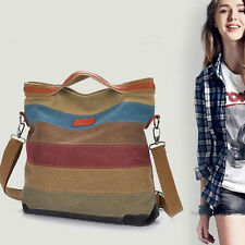 Fashion Women Canvas Shoulder Bag Satchel Crossbody Tote Handbag Purse Messenger