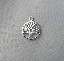 Árbol de la vida de los conocimientos de 10 mm encanto plata esterlina 925