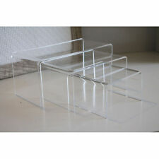 Medium Nesting Plinths Acrylic Jewellery Display Stands Retail Shop Bridge Riser