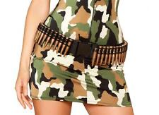 Bullet Belt Adjustable Canvas Military Army Machine Gun Costume Accessory 4387