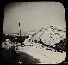 Glass Magic Lantern Slide VIEW FROM FAULHORN C1890 SWITZERLAND L88