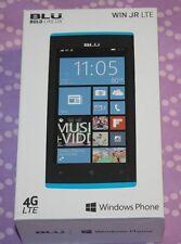 "NEW BLU Win Jr LTE - 4G LTE GSM Unlocked Windows Smartphone Blue 4.5"" IPS Qualco"