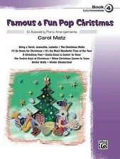 Famous and Fun Pop Christmas Book 4 Early Intermediate Piano Solo Music Alfred