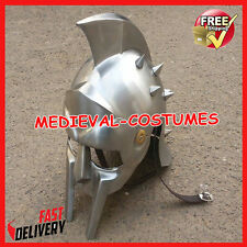 Medieval Gladiator Helmet Greek Roman Knight Maximus Costume Armor Iron Helmet d
