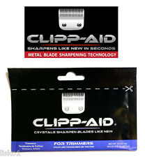 Clipp-Aid Crystals for sharpening Hair Trimmer Blades,  9-packs  0.2oz. (blue)
