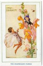 Early  MARGARET TARRANT The Snapdragon Fairies in our Garden Series Postcard