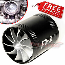 AIR INTAKE DUAL FAN BLK Turbo Supercharger Turbonator Gas Fuel Saver VOLKSWAGEN