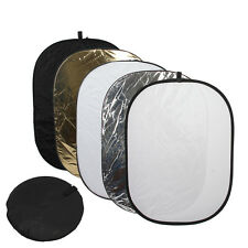 "60x80"" 150 x 200 cm 5 in 1 Oval Collapsible Reflector Disc Set"