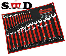25 PC COMBINATION OPEN RING HEAD SPANNER WRENCH SPANNERS WALL MOUNTED KIT CT0126