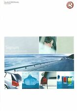 VAUXHALL SIGNUM 2003 MODELS RANGE HIGHLIGHTS BROCHURE VM0303890 04.03 (UK)