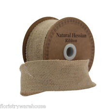Natural Hessian Ribbon 50mm/2 inches wide x 9m/10yds roll