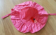 Gymboree baby girls bright pink sun hat 6-12 mnths bnwt