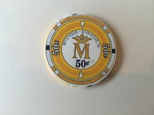 $.50 IOWA 1ST EDT MYSTIQUE CASINO CHIP RIVERBOAT DUBUQUE CHIPCO YELLOW