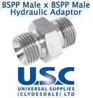 BSP Male x BSP Male Adaptor Fitting Nipple Hose Hydraulic Air Water Connector