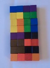 Wooden counting cubes - A new pack of 32 cubes (25mm) 4 x 8 different colours