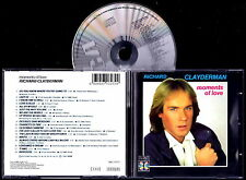 RICHARD CLAYDERMAN - Moments Of Love 1988 CD Nuovo RARISSIMO