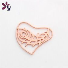 Floating charm 20mm Feather Rose Gold Lockets for glass Living Memory Locket