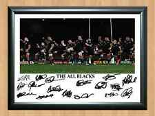 The All Blacks Haka Rugby New Zealand Autographed Signed A4 Print Photo Poster
