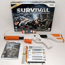 NEW Cabela's Survival Shadows of Katmai Wii/Wii-u GAME +GUN Top Shot Elite Rifle