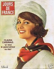 Couverture magazine,Coverage Jours de France 14/03/64 Claudia Cardinale