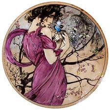 Mucha stained glass, Mucha suncatcher, Spring, Mucha kilnfired glass painting