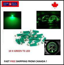 10X T5 GREEN Instrument Panel Cluster Dash Led Lights Bulbs 17 73 74 HID Bright