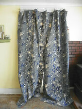 "RALPH LAUREN- ""DONOVAN FLORAL"" PAIR OF UNLINED DRAPES CURTAINS 86"" LONG"