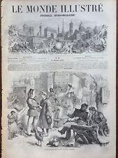 LE MONDE ILLUSTRE 1857 N 27 LES ENROLEMENTS POUR LE SERVICE MILITAIRE, A LONDRES