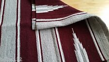 Western Horse Riding Cotton Drill Saddle Blanket Rug Wall Dog Mat BURGUNDY