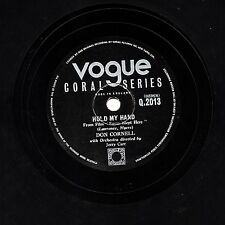 "UK #1 1954 DON CORNELL 78 "" HOLD MY HAND / I'M BLESSED ""  VOGUE CORAL  Q 2013 EX"