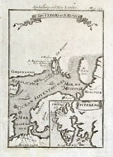 SPITZBERGEN, SVALBARD, NORWAY, GREENLAND Mallet original antique map 1719