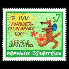 Austria 2001 - 7th IVV Hiking Olympics Cartoon Art Sports - Sc 1848 MNH