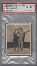 1948 SWELL RUTH STORY #27 BABE RUTH & CLAIRE TREVOR PSA VGEX 4