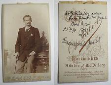 Holzminden - Verbindung Saxonia - 1894 - Willy Weinberg - CDV Höxter Bad Driburg