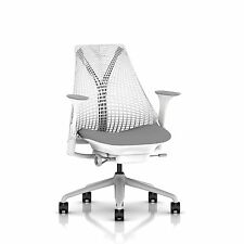 SAYL Chair by Herman Miller - Basic - White, Fog Arms & Shale Seat