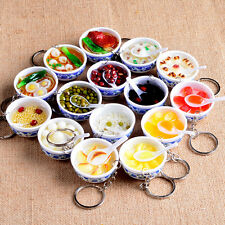 New Simulation Food Key Chains Chinese Food Bowl Keyring Creative Bag Chain 1PC