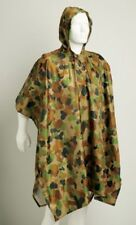 AUSCAM DCPU CAMOUFLAGE NYLON RAIN PONCHO - Great for scouts and cadets !!!