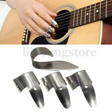 4Pcs/set Pro Metal 3 Finger Picks + 1 Thumb Pick Banjo Ukulele Guitar Plectrum